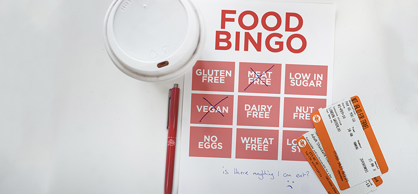 You don't have to play food bingo when traveling by train! #AllergyAwarenessWeek